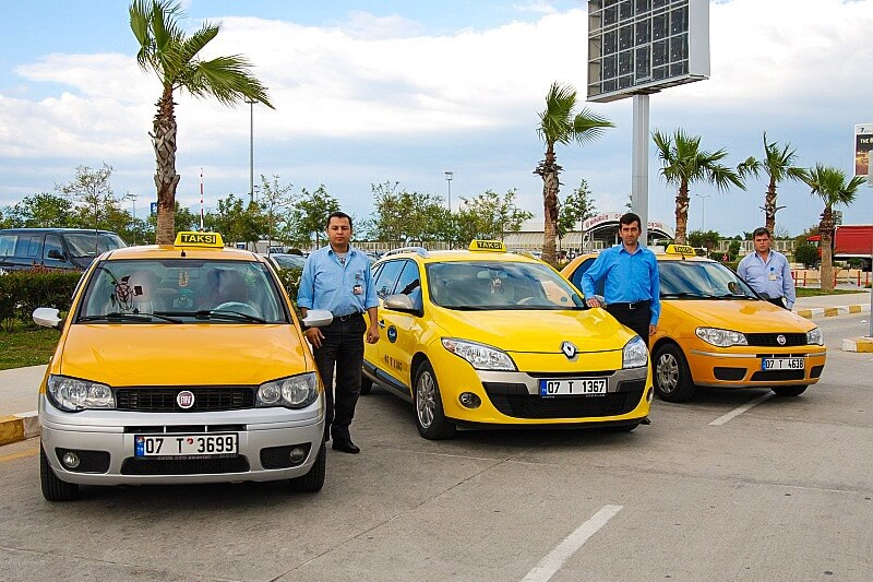 Taxi from Antalya to Side price here