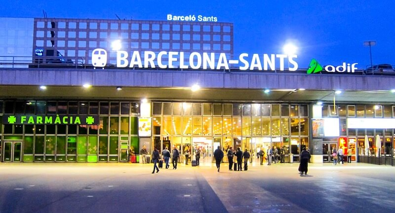 Ж/Д вокзал Барселоны - BARCELONA-Sants