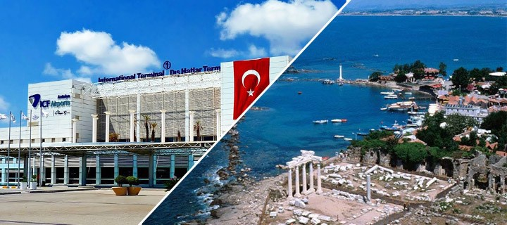 How to get from Antalya airport to Side