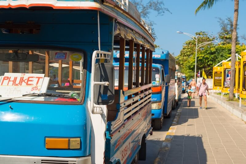 transfer from the airport in Phuket to Patong by bus