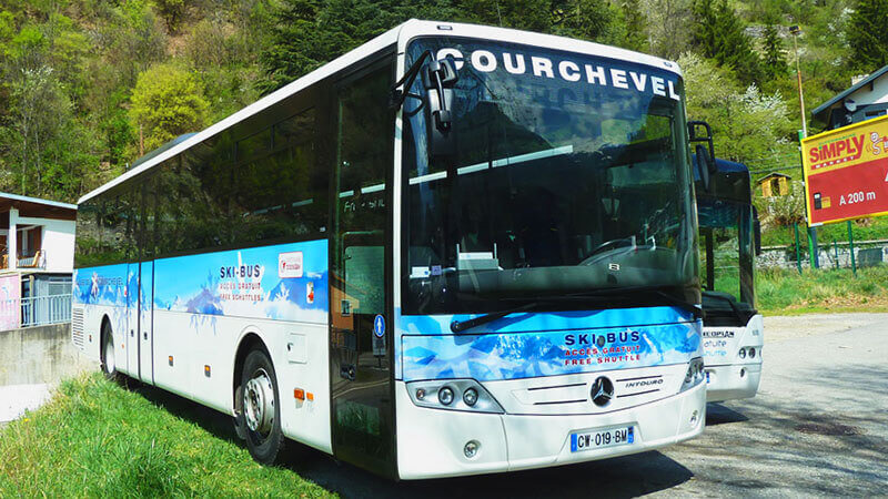 Bus from Geneva to Courchevel