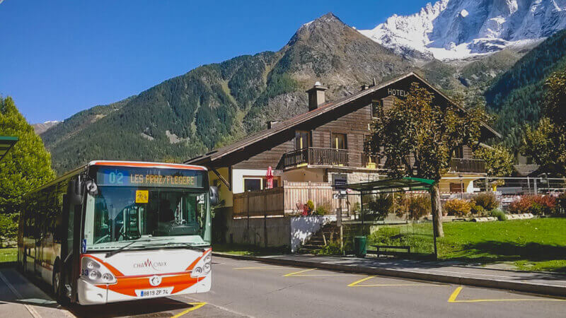 Bus from Geneva to Chamonix