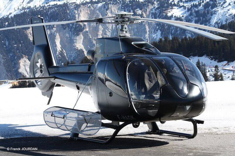 Helicopter from Geneva Airport to Meribel