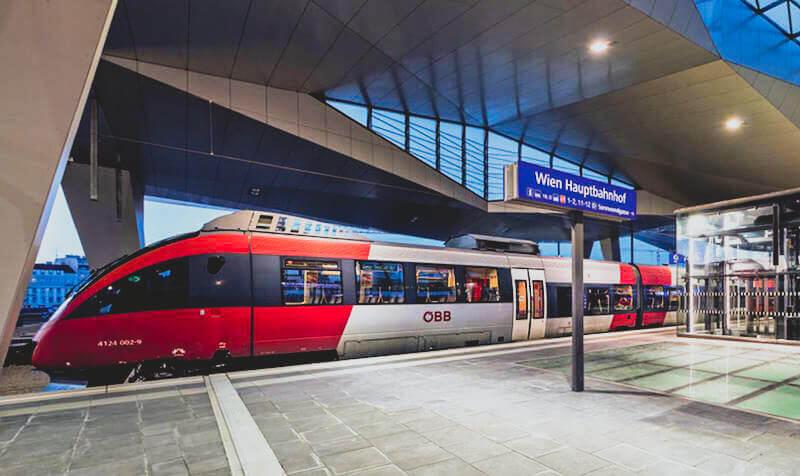 Train from Vienna to Heviz