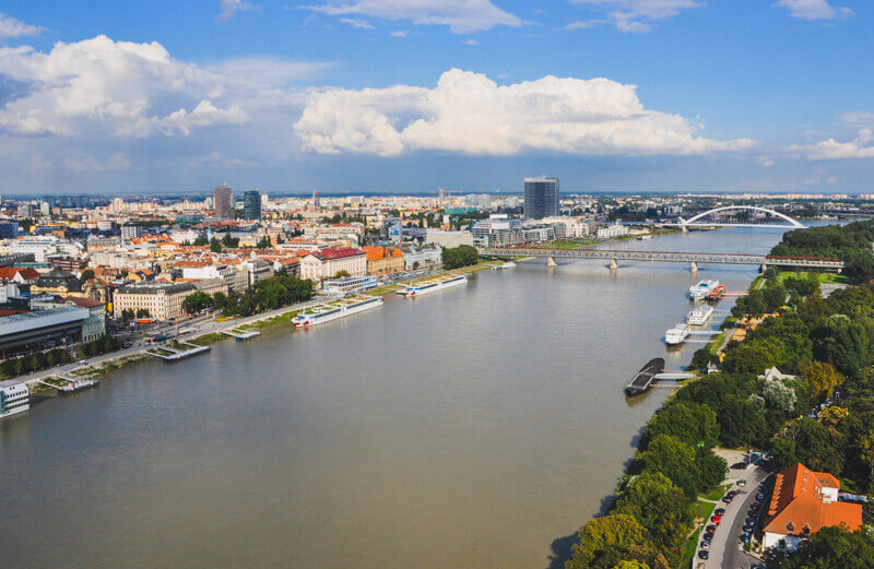 From Bratislava to Vienna by river