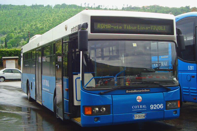 Bus Cotral from Airport Fiumicino to Rome