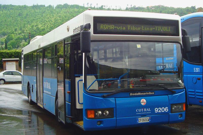 Автобус Cotral Фьюмчино - Рим