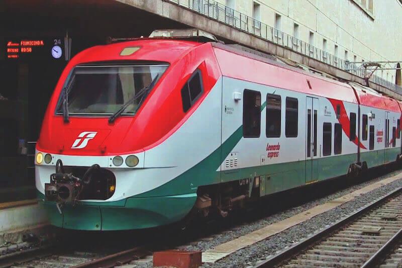 Train from Leonardo Express Airport Fiumicino to Rome