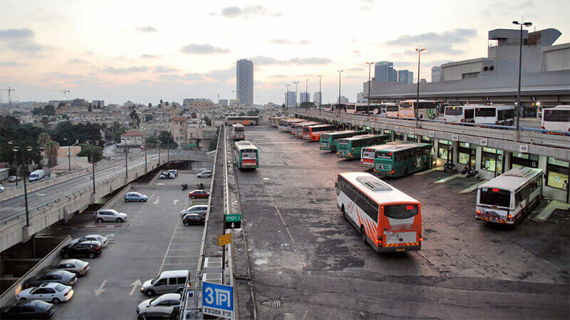 Central bus station in Tel Aviv
