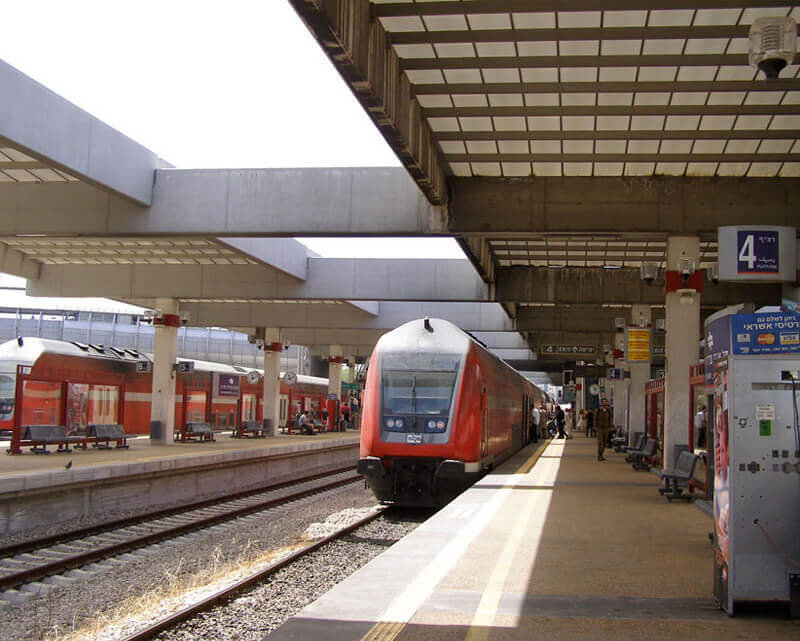 Central railway station in Tel Aviv