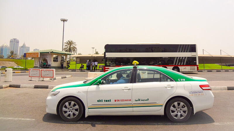 Booking a cab from Dubai to Sharjah