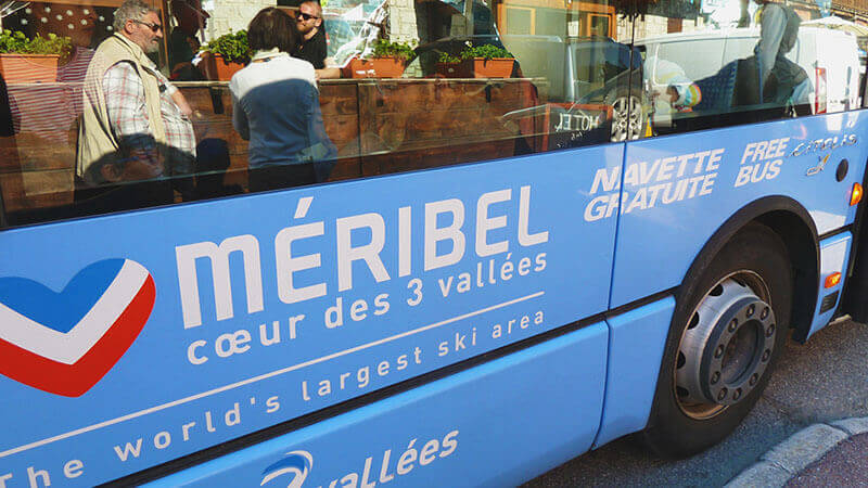 Bus from Geneva to Meribel