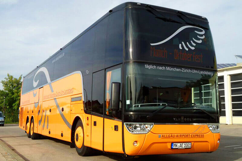 Bus from Memmingen to Munich