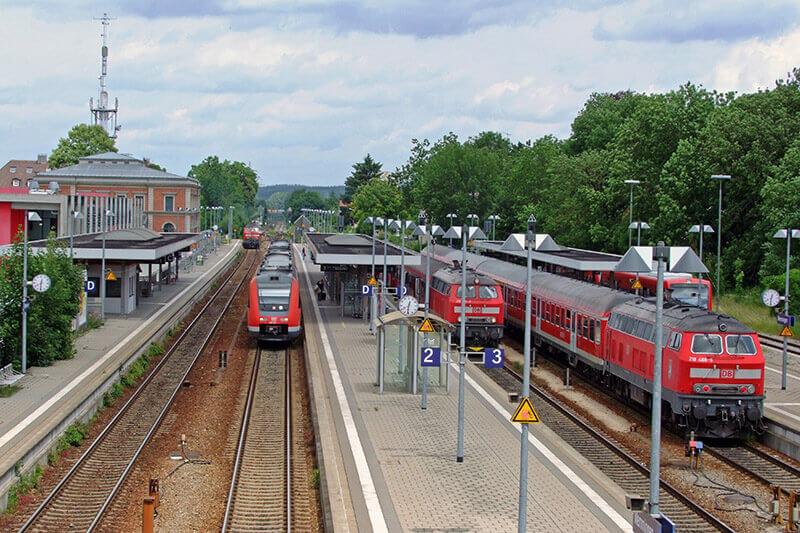 Train from Memmingen to Munich