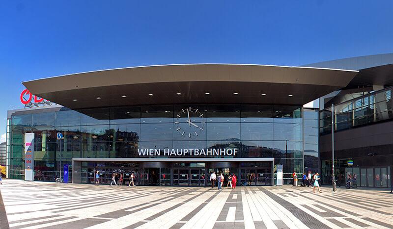 Wien Hauptbahnhof жд вокзал в Вене