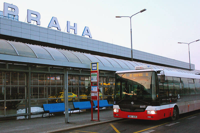 Bus 510 from Prague Airport to Prague