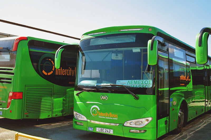 Intercity Buses from Larnaca Limassol to Paphos