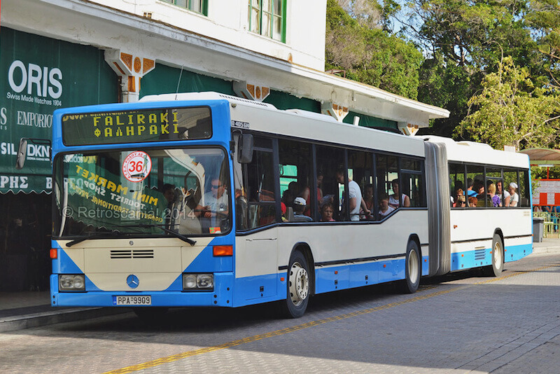 Bus from Rhodes Airport to Faliraki