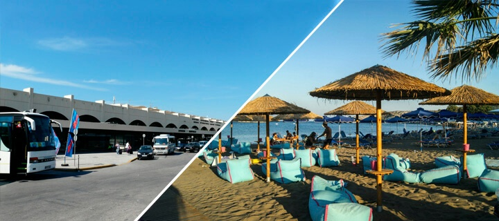 Transfer from airport in Rhodes to Faliraki: what to choose?
