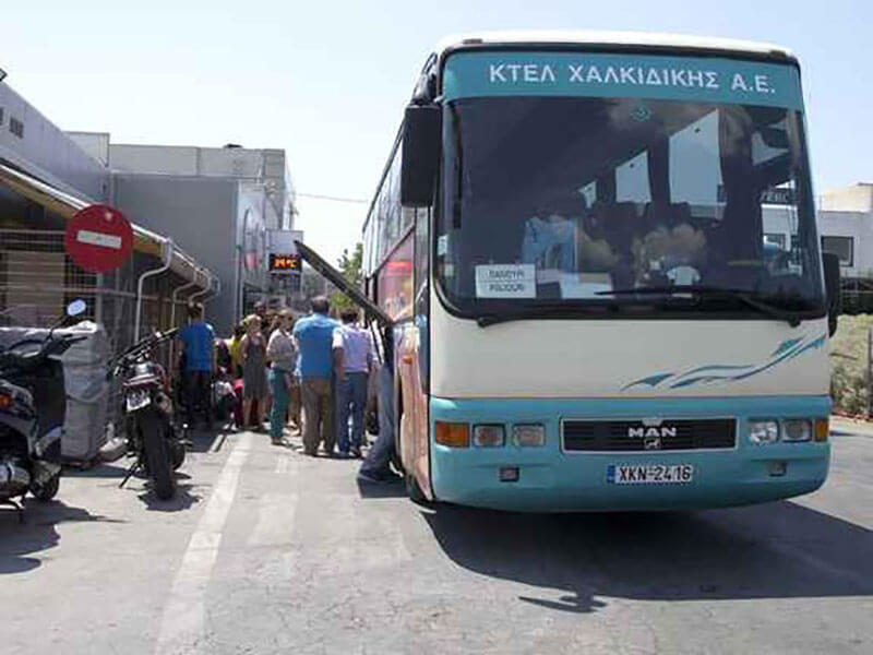 bus from Thessaloniki to Halkidiki