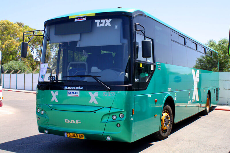 Bus Egged from Tel Aviv to Eilat