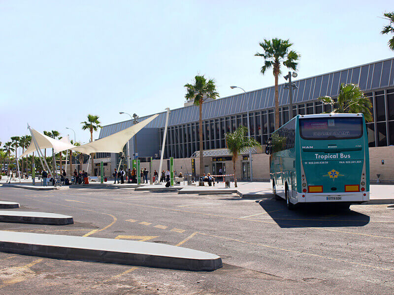 Bus station near Tenerife South airport