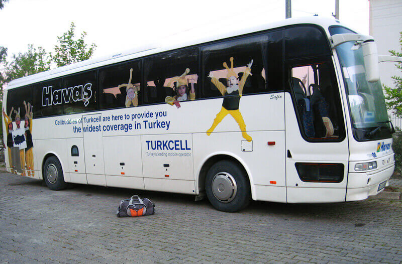 The Bus from Dalaman Airport to Marmaris