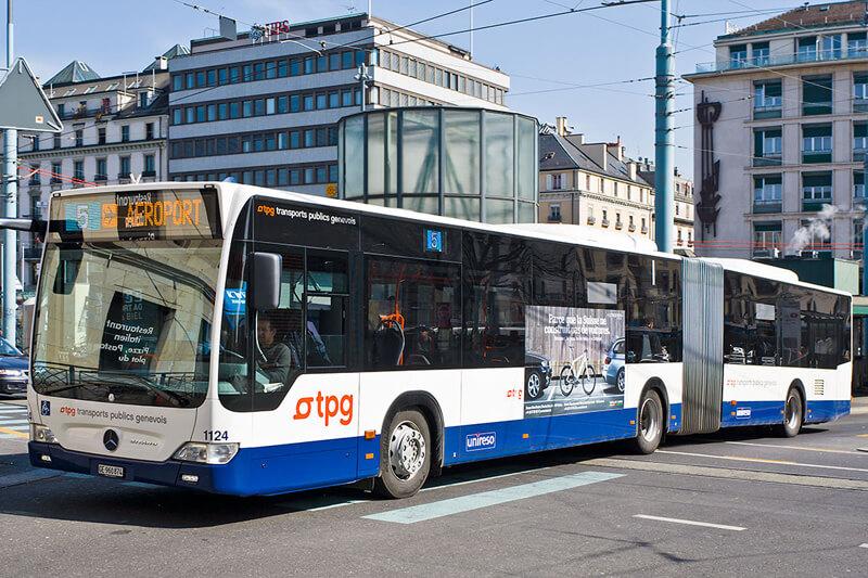 Как добраться из аэропорта Женевы в город на автобусе