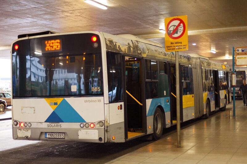 Как добраться из аэропорта Афин до города на автобусе