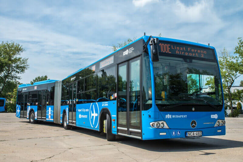 How to get from the airport to Budapest by Bus #100e